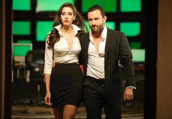 Mallika Haydon and Saif Ali Khan in Pungi, Agent Vinod