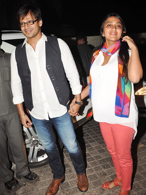 Vivek Oberoi with wife Priyanka
