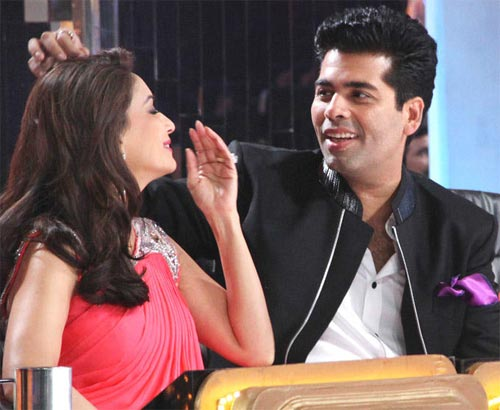 Madhuri Dixit and Karan Johar in Jhalak Dikhlaa Jaa Season 5