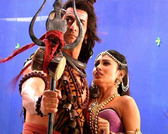 Mohit Raina and Mouni Roy in Devon Ke Dev Mahadev