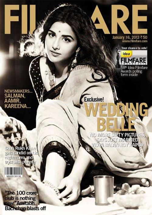 Vidya Balan on Filmfare cover