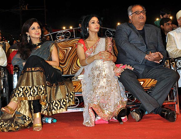 Urmila Matondkar, Sridevi and Boney Kapoor