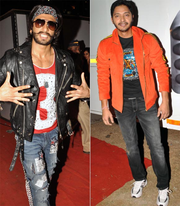 Ranveer Singh and Shreyas Talpade