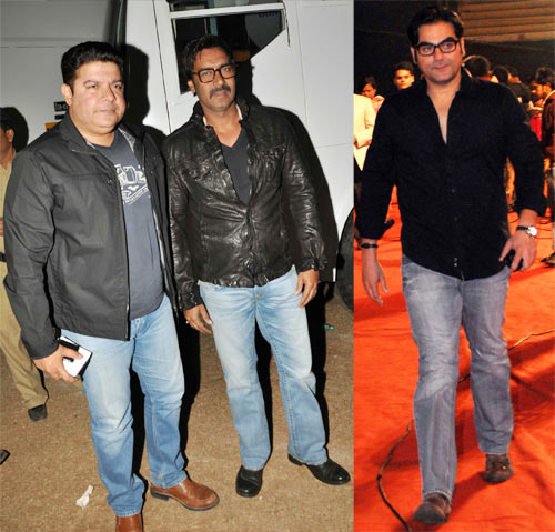 Sajid Khan, ajay Devgn and Arbaaz Khan