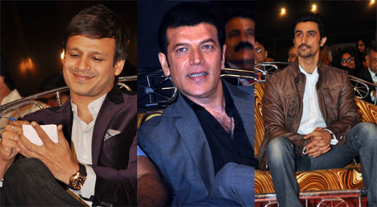 Vivek Oberoi, Aditya Pancholi and Kunal Kapoor