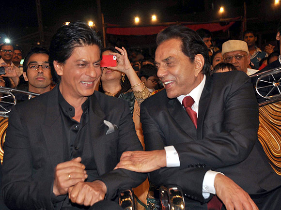 Shah Rukh Khan and Dharmendra
