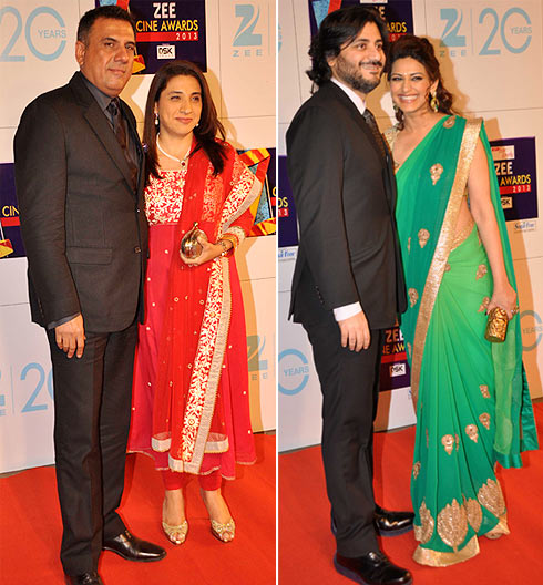 Boman and Zenobia Irani. Goldie Behl and Sonali Bendre