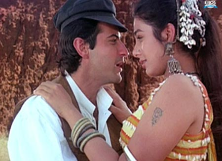 Sanjay Kapoor and Tabu in Prem
