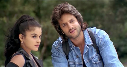 Fardeen Khan with Meghna Kothari in Prem Aggan