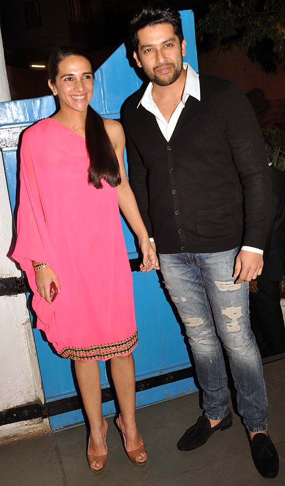 Tara Sharma and Aftab Shivdasani