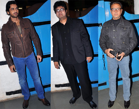 Arjan Bajwa, Gulshan Grover and Prasoon Joshi