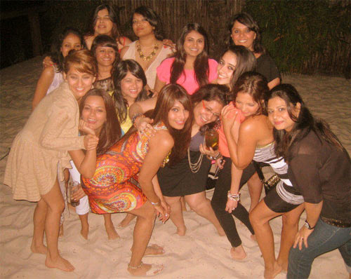 Bipasha Basu with her gang of girls