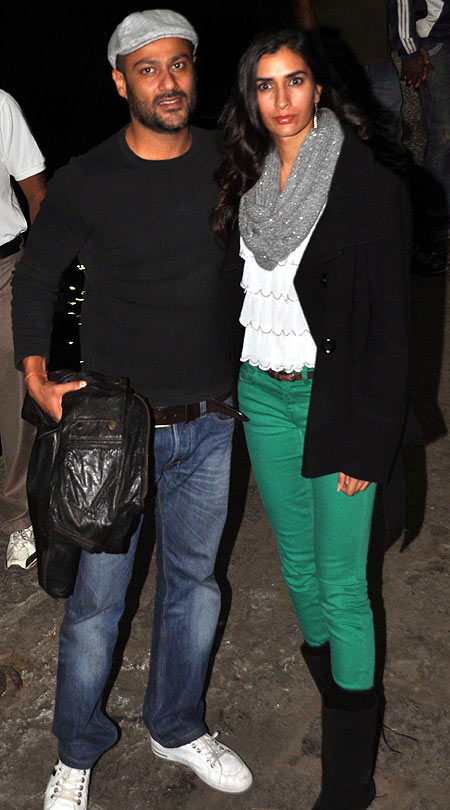 Abhishek Kapoor with his wife