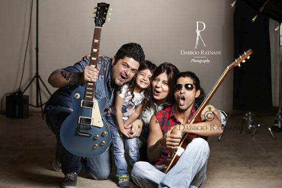 Dabboo Ratnani, Myrah, Manisha Ratnani and Farhan Akhtar