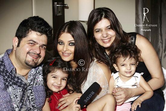 Dabboo Ratnani, Myrah, Aishwarya Rai Bachchan, Kiara and Manisha Ratnani