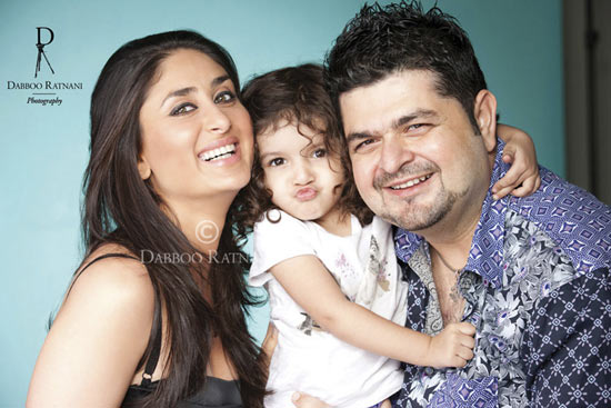 Kareena Kappor, Myrah and Dabboo Ratnani