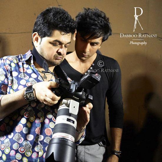 Dabboo Ratnani and Ranbir Kapoor