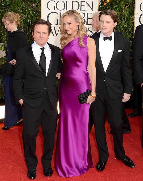 Michael J Fox, Tracy Pollan and Sam Fox