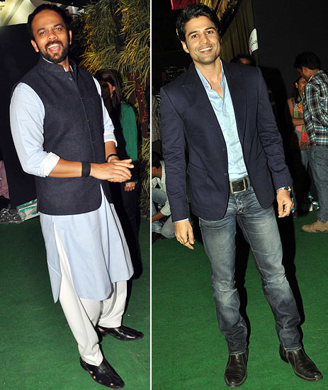Rohit Shetty and Rajeev Khandelwal