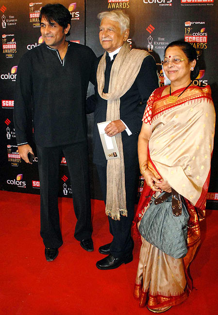 Ajinkya with his parents Ramesh and Seema Deo