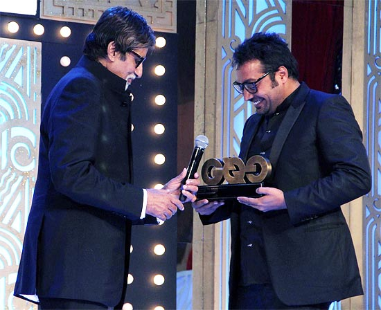 Amitabh Bachchan and Anurag Kashyap at GQ awards