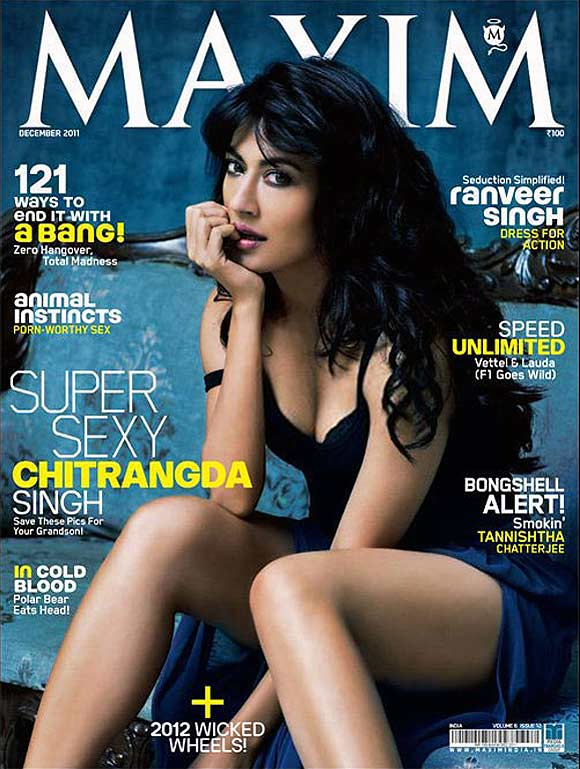 Chitrangada Singh on the cover of Maxim