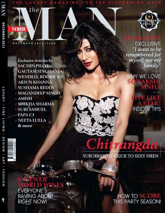 Chitrangada Singh on the cover of The Man
