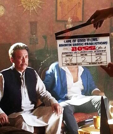 Danny on the sets of Boss