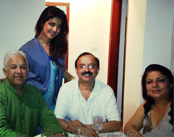 Priyanka Chopra with her family