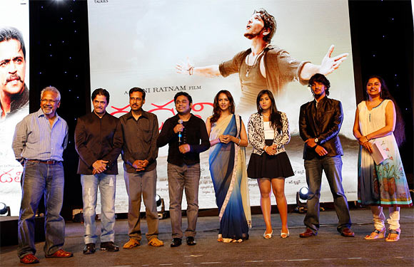 Mani Ratnam and A R Rahman with the team of Kadal
