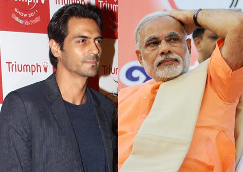 Arjun Rampal and Narendra Modi