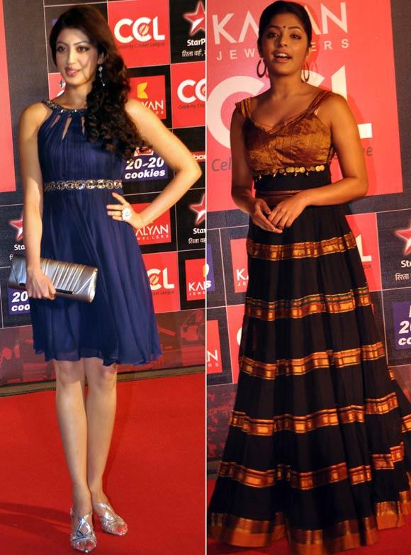 Pranita Subhash and Rima Kallingal
