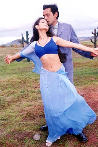 Ameesha Patel with Bobby Deol in Humraaz