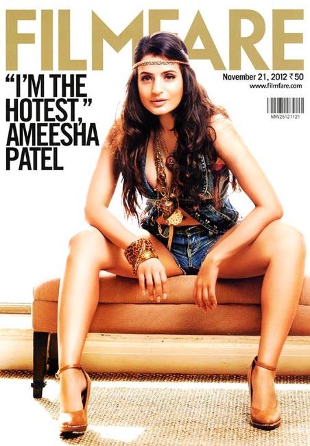 Ameesha Patel on Filmfare cover