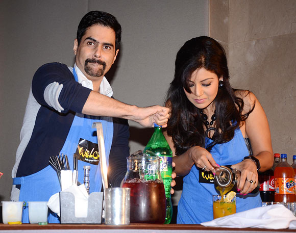 Aman Verma with Debina Boneerjee