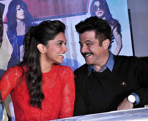 Anil Kapoor with Deepika Padukone