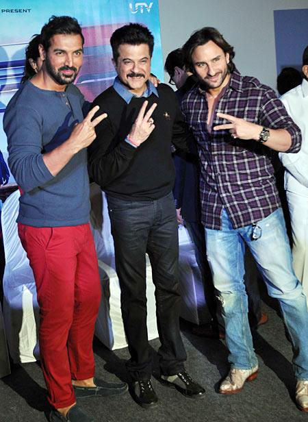 John Abraham, Anil Kapoor and Saif Ali Khan