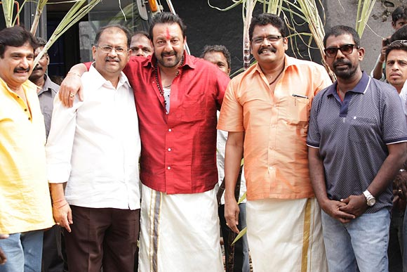 Sanjay Dutt with K S Ravikumar and Ramesh Kanna