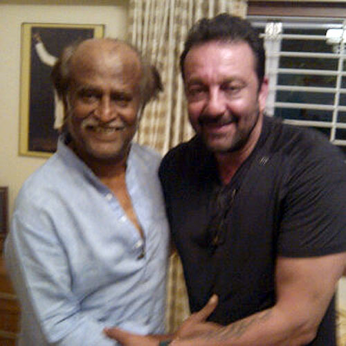 Sanjay Dutt and Rajnikanth