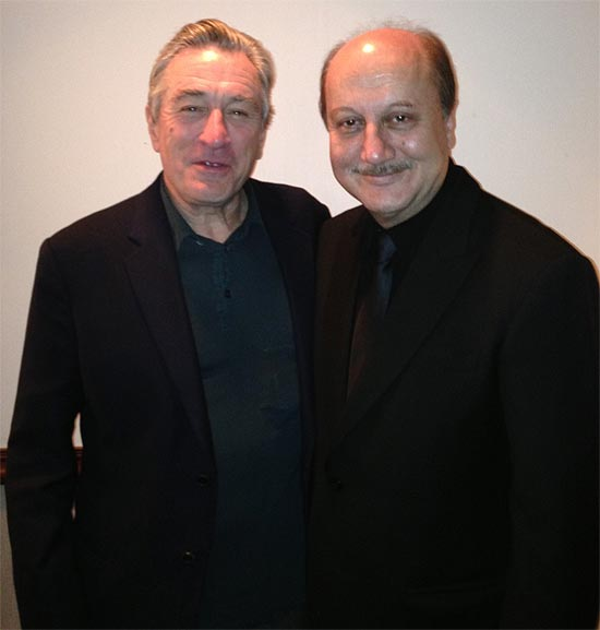 Robert De Niro and Anupam Kher