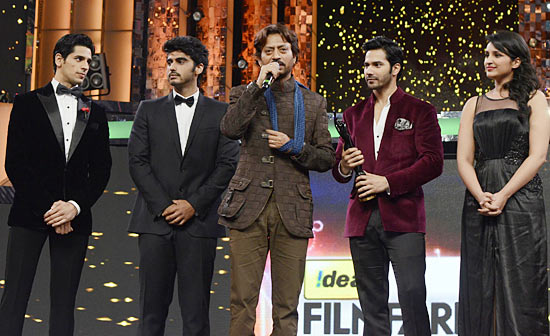 Sidhharth Malhotra, Arjun Kapoor, Irrfan Khan, Varun Dhawan and Parineeti Chopra