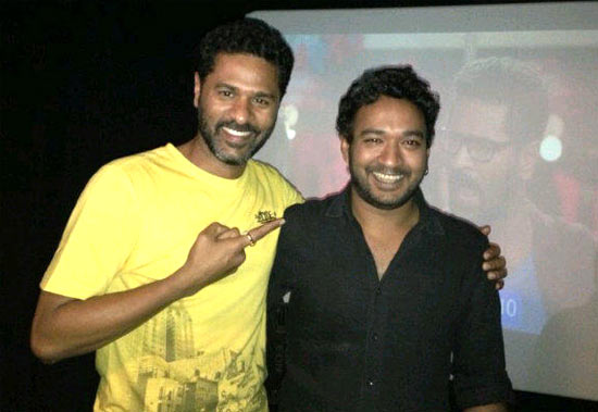 Prabh Deva with Sanjay