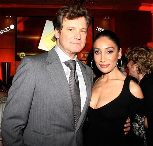 Colin Firth and Sofia Hayat