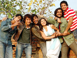 A scene from Rang De Basanti