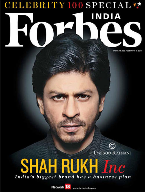 Shah Rukh Khan on Forbe
