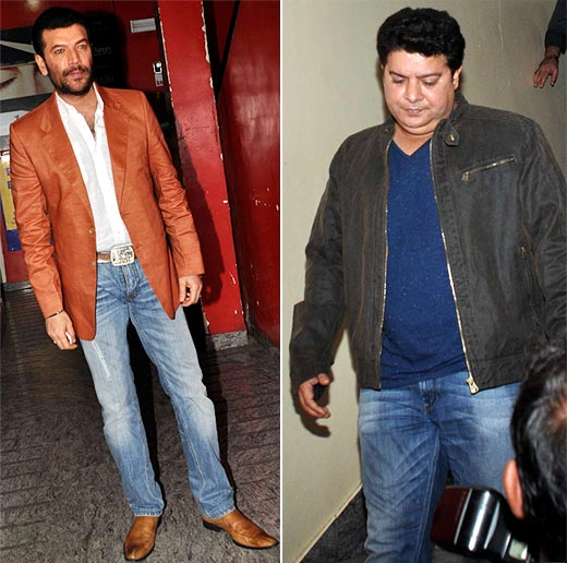 Aditya Pancholi and Sajid Khan