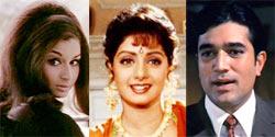 Sharmila Tagore, Sridevi and Rajesh Khanna