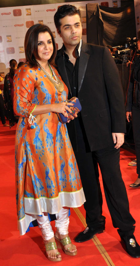 Farah Khan and Karan Johar