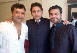 Ken Ghosh, Mohit Suri with a friend