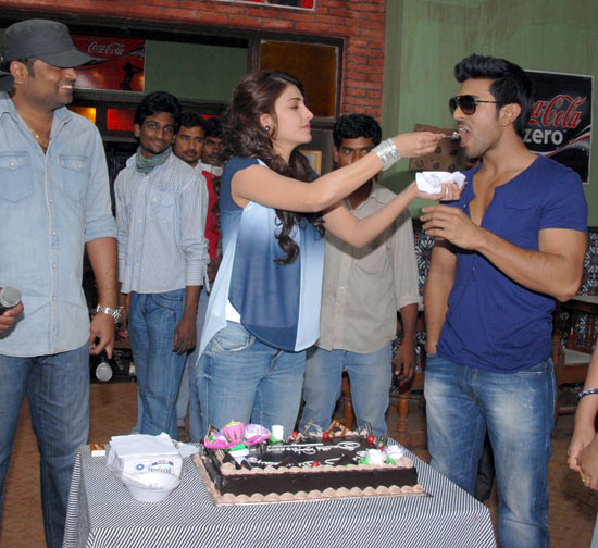 Vamsi Paidipally, Shruti Haasan and Ram Charan Teja